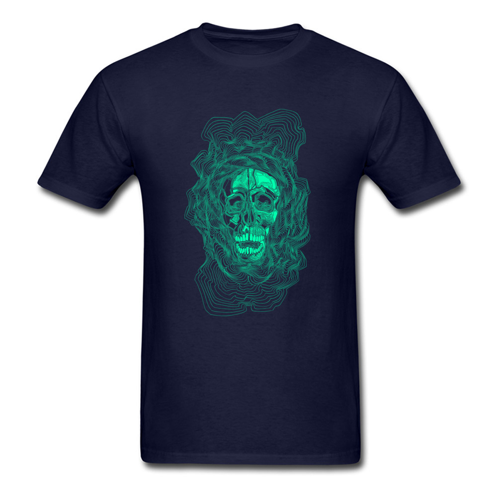 oldskull 100% Cotton T Shirt for Men Hip hop Top T-shirts Comics Dominant O Neck Sweatshirts Short Sleeve Free Shipping oldskull navy