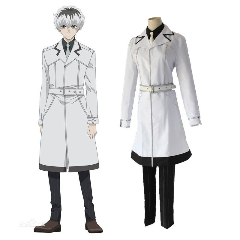 anime MEN WOMEN Tokyo Ghoul cosplay UNIFORM Tokyo Ghoul jacket  clothes Ken Kaneki sweater terry cloth carnaval cosplay WIG