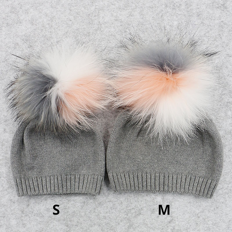 Image 3 - GZHILOVINGL 2017 New Winter Children Toddler Kids Boys Girls Cotton Crochet Knitted Beanies Skullies Caps With Fur Multi Pompom-in Men's Skullies & Beanies from Apparel Accessories