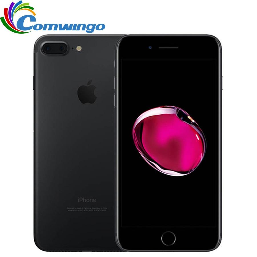 Apple iphone 7 plus 3 gb ram 32/128 gb/256 gb rom ios 10 telefone celular 12.0mp câmera quad-core impressão digital 12mp 2910ma iphone7 plus