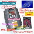 4KW 4HP-18A Unidad de frecuencia Variable VFD inversor VSD 220 V/AC control de velocidad para fresadora CNC husillo motor