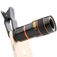 Universal 8X8 Optical Zoom Telescope Camera Lens Clip Mobile Phone Telescope Binoculars For iPhone6 Samsung HTC Huawei Xiaomi стоимость
