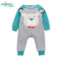 2017 Spring Autumn Baby Boys Girls Clothes Cartoon Animal With Ears Jumpsuit Newborn Infant Rompers Baby