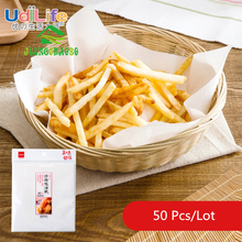 50Pcs/Lot Baking Oil-absorbing Paper Fried Pad Tool Food Oil Snack