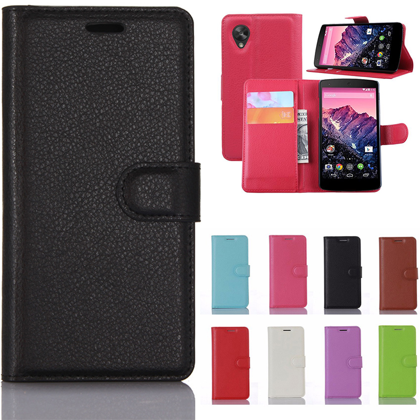 For LG Nexus 5 Mobile Phone Cases Stand Wallet PU Flip Leather Capa Magnetic Cover Celular With Card Holder For LG Nexus 5 Coque image