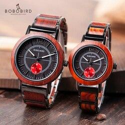 BOBO BIRD деревянные часы для влюбленных Топ Бренд роскошные стильные женские часы для мужчин отличные подарки Relogio Masculino