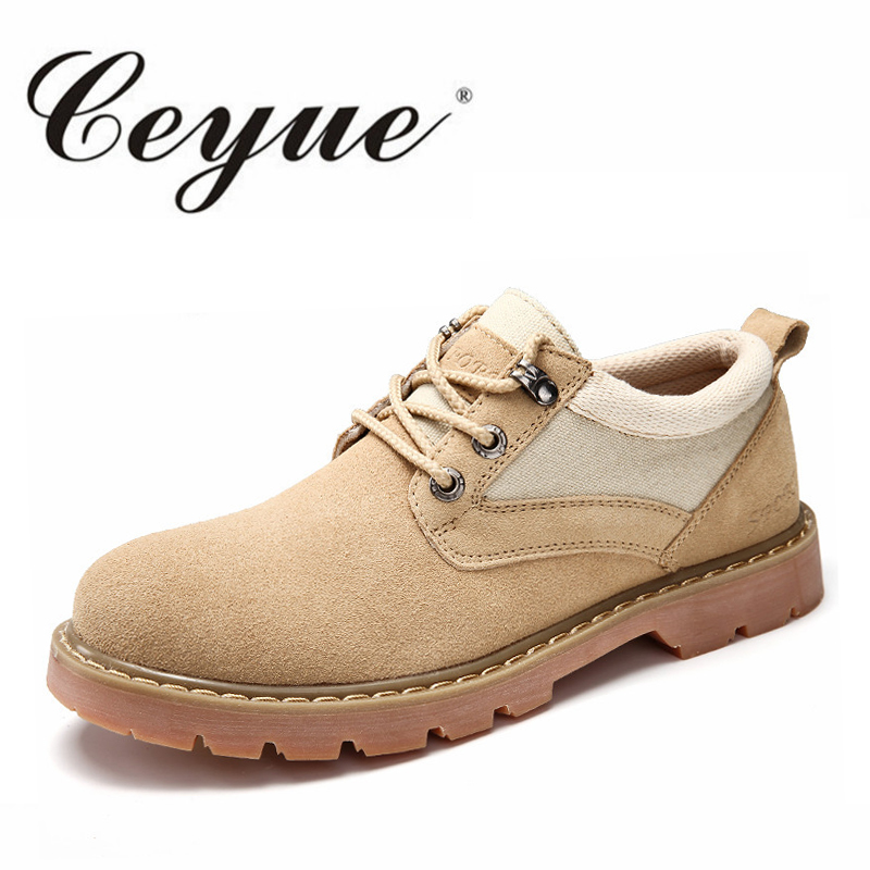 Ceyue Winter Men Casual Shoes New 2017 Genuine Leather Shoes Men Oxford Fashion Lace Up Dress Shoes Outdoor Work Shoe Sapatos
