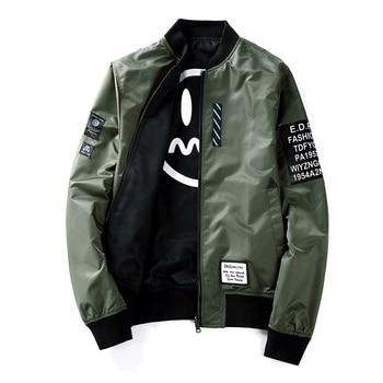 Reversible pattern print jacket men fashion vintage coat outerwear 2019 mew spring autumn plus size S - XXXXXL