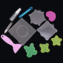 14pcs Fuse Beads Tools with Pegboards Template Tweezers Spray Bottle Beads Pen for Kids DIY Handcraft Art Craft Educational Toys