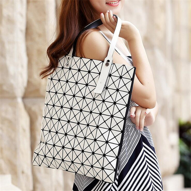 Famous Brand Bao Bao Woman Bags Plaid Fold Over Bags issey miyak Handbag Shopper Bag Fashion Shoulder Bags Totes Sac a main 9*9