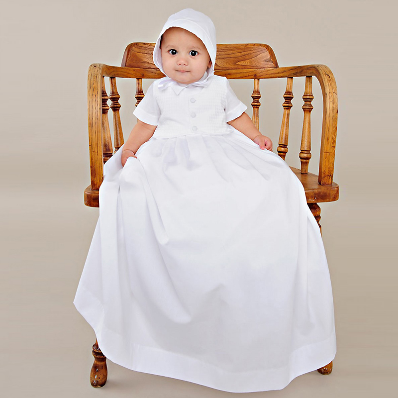Vintage Dresses Aestheticism Baby Costume 1 Year Birthday Gown Draped Infant Boy Memory Christening Gowns with Crochet Jacket