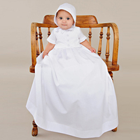Vintage Dresses Aestheticism Baby Costume 1 Year Birthday Gown Draped Infant Boy Memory Christening Gowns With