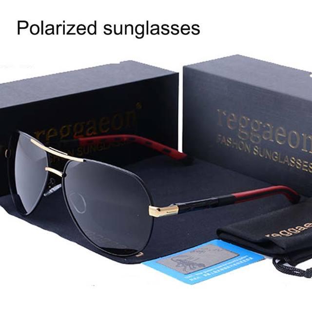 c19cbbf65cb lvvkee Top quality Sunglasses Mens Polarized Sunglasses Polaroid Lens Spring  Hinge Metal Driver glasses 216 Fashion