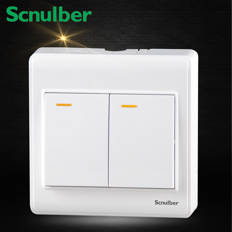 hotel surface mounted dual 2 gang double 2 way push button wall switch