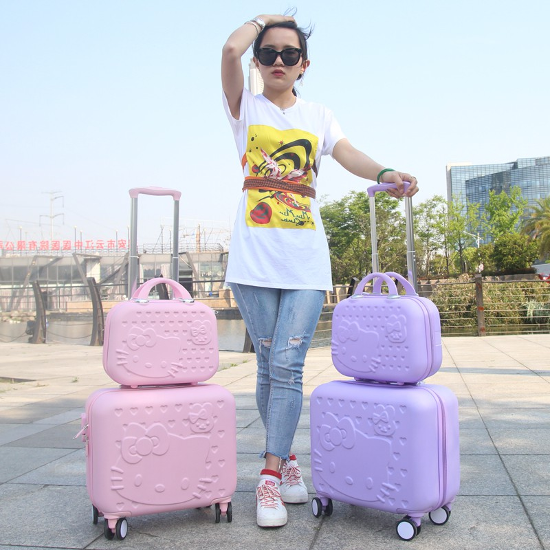 9f118c19ef04 Hello Kitty Cabin Luggage   Suitcase set