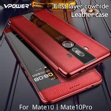 Di lusso Genuino Custodia In Pelle Per Huawei Mate 10 pro Caso Compagno di 10 Caso di Vibrazione del Cuoio Per Huawei Mate10 Pro Mate 9 Della Copertura Della protezione