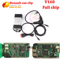 DHL Free Shipping V160 Newest Version Renault Can Clip Auto Diagnostic tool Full Chip Can Clip for renault  with multi-languages