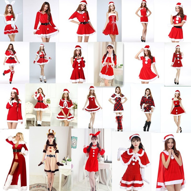 The new Christmas loaded adult female cos Christmas dress European and American sexy cosplay costumes Halloween costumes