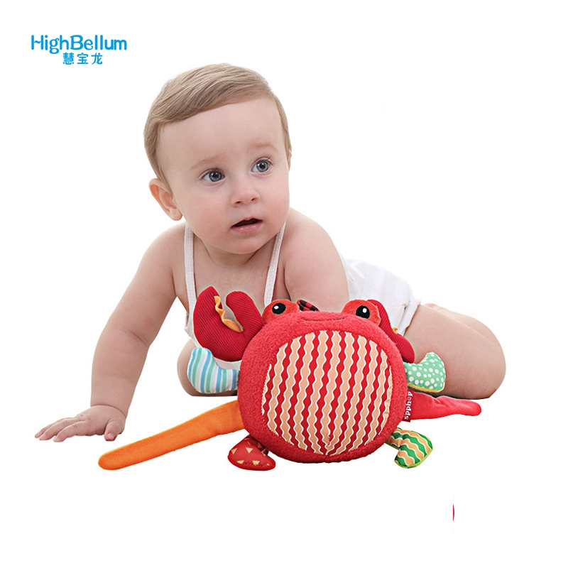 New Born Baby Toy Comforting Doll With BB Rattles Toys For Baby 0-3 Years Baby Play Crab Educational Toy Appease Dolls HB BABY