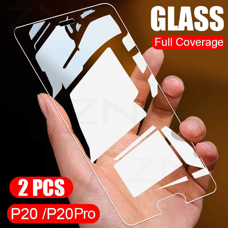 ZNP 2Pcs Full Cover Tempered Glass For Huawei P20 Pro P10 Plus P9 Screen Potector Film For Huawei P Smart Mate 20 10 Lite Glass