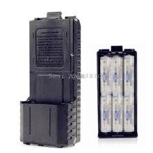6xAAバッテリーケースシェルボックス双方向ラジオbaofeng UV 5R UV 5REプラス黒whosale & ドロップシップ