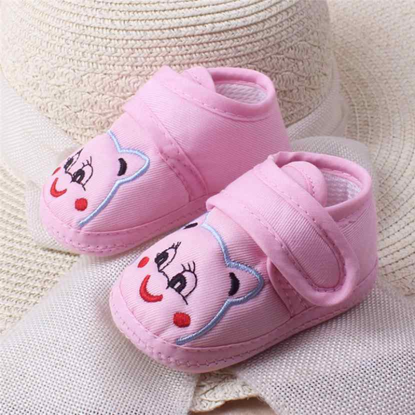 First walker Nerborn Baby Girl Boy Soft Sole Cartoon Anti-slip Shoes Toddler Shoes Soft Soled Non-slip Footwear Crib Shoes
