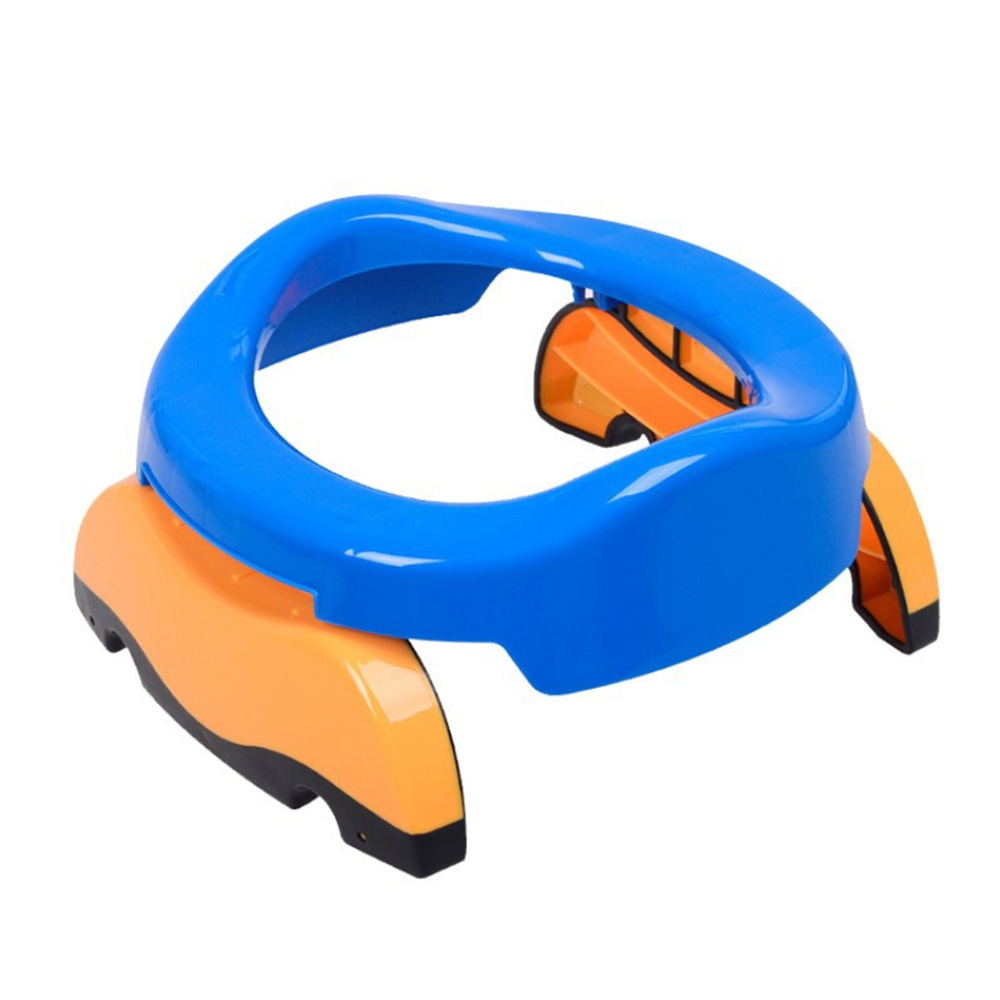 2 In1 Portable Baby Infant Chamber Pots Foldaway Toilet Training Seat Travel Potty Rings For Kids With 10 Toilet Bags
