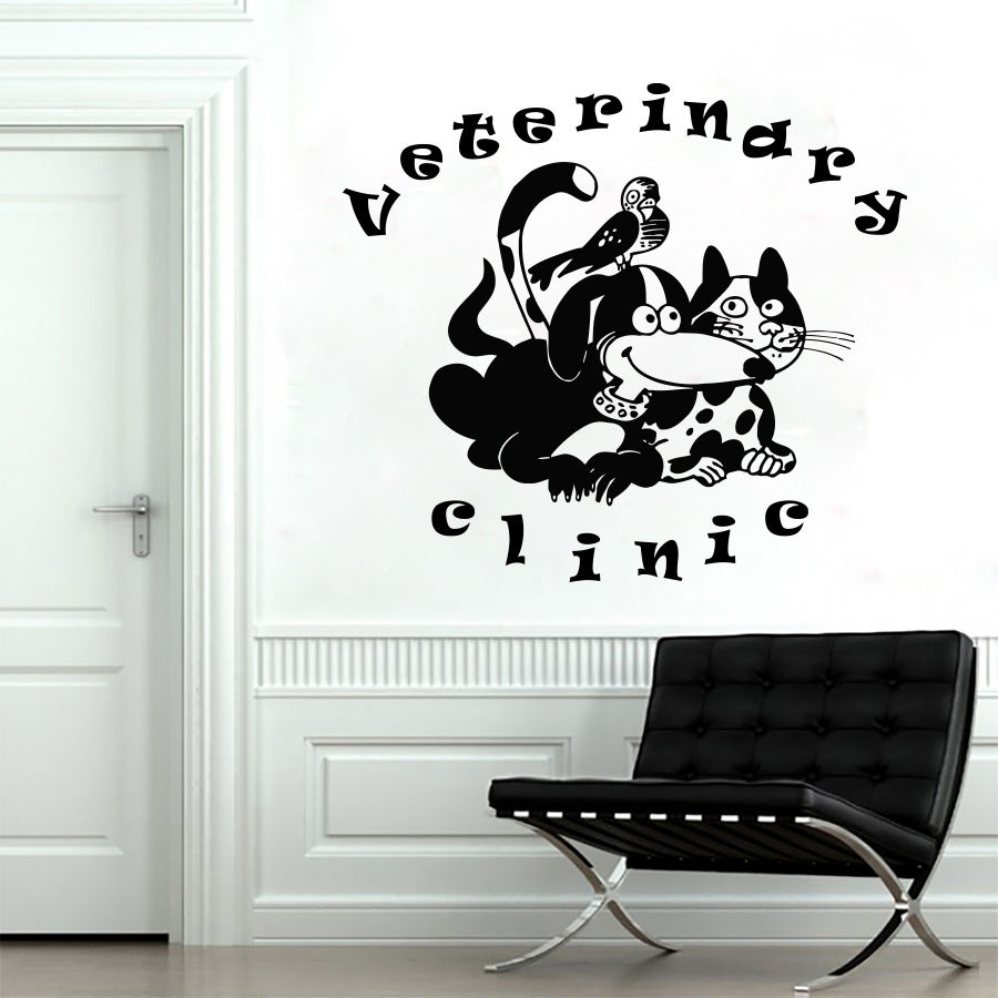 Wall Decals Animals Pets Veterinary Clinic Dogs Cats Grooming Home Decor