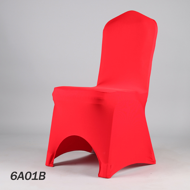 100PCS Factory 40Color Wedding Party Cover Chair Folding Lycra Dinner Red Chair  Covers Restaurant Stretch Seat Cover