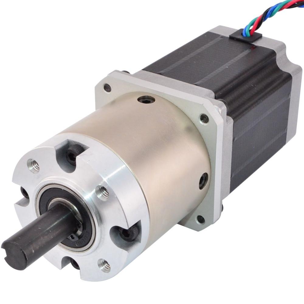Nema 23 Geared Stepper Motor 2.8A 4-Lead Bipolar Gear Ratio 15:1 Planetary Gearbox 3D Printer CNC Robot geared stepper motor 4 lead nema 11 stepper motor 30mm planetary gearbox gear ratio 9 1 cnc robot 3d printer pump