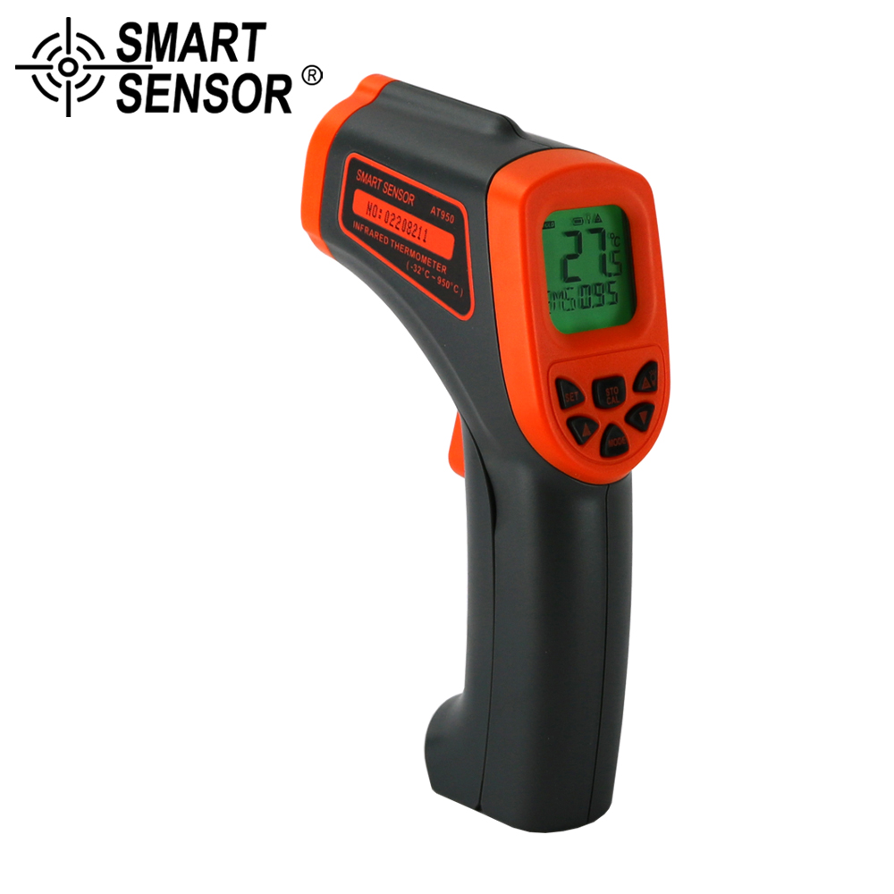 SMART SENSOR 32 to 950 C ( 26 to 1742 F)Non Contact laser IR Temperature Gun Pyrometer meter Digital Infrared Thermometer