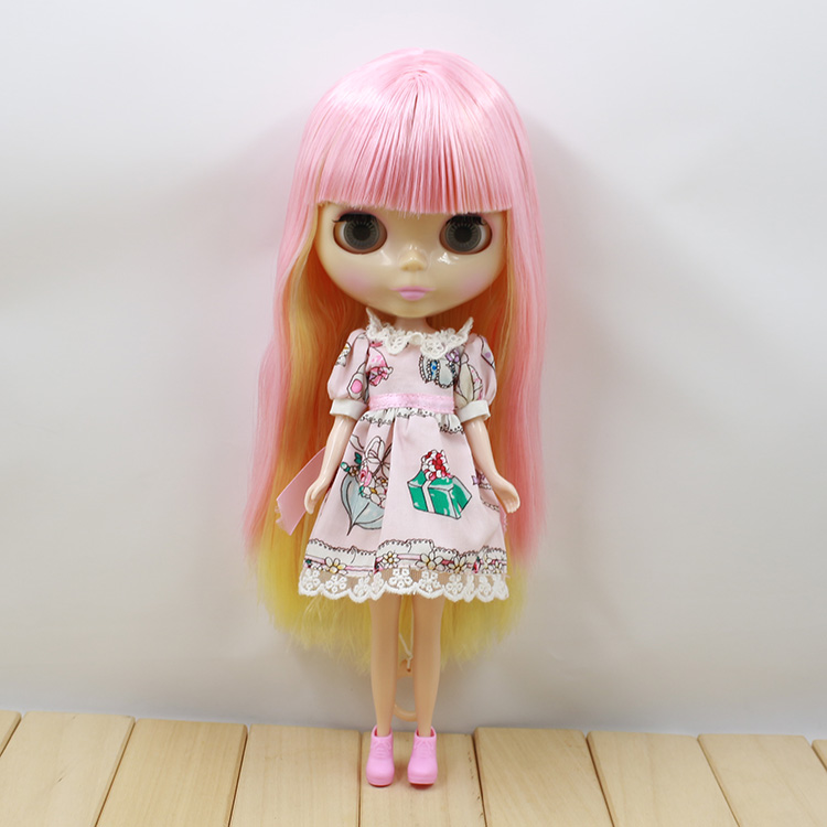 ICY Nude Blyth Doll Series No 230BL0828 0275 Pink mix Yellow hair transparent skin Factory Blyth