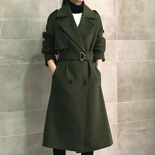 New Fashion Retro double-breasted cashmere winter jacket women coat long sections woolen coat