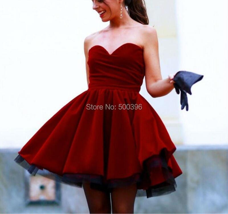 33af77d02 Rojo oscuro Stain Mini vestidos fiesta cariño gasa vestido 2016 vestidos  plisados acanalada cortos vestidos formales vestidos para eventos en  Vestidos de ...