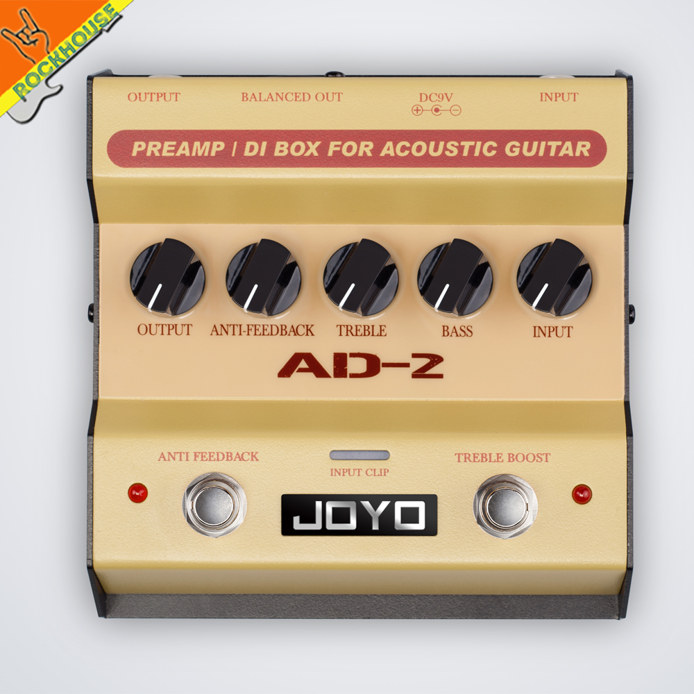 JOYO Acoustic Guitar Effects Pedal Acoustic Guitar Preamp with Boost True Bypass