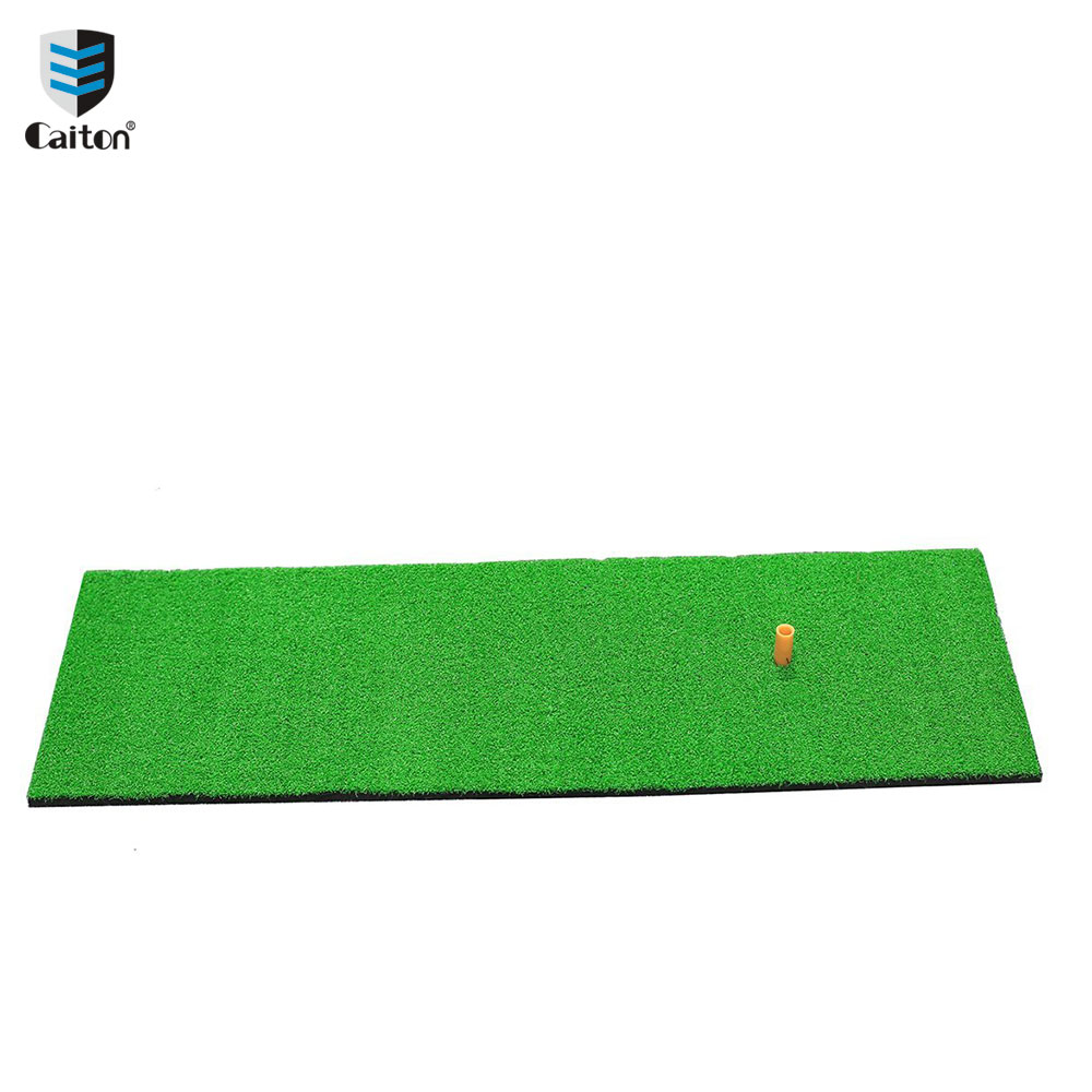 Caiton 60x30cm/12x24 Golf Residential Practice Hitting Mat Rubber Tee Holder Indoor golf training pad