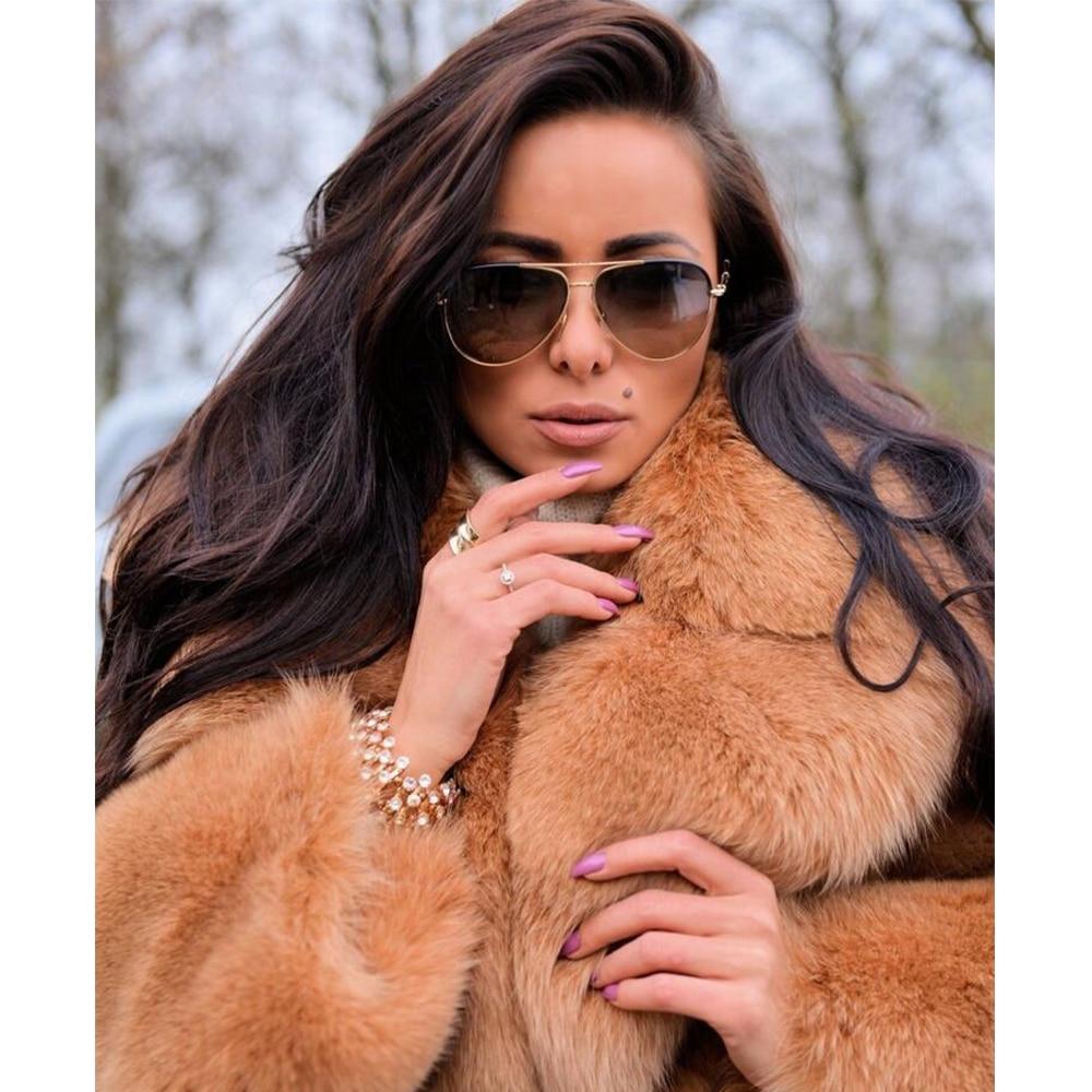 Véritable Light Vison Manuel Coffee Ceinture Pardessus Mode Importer Complet De Fluffy Pelt Fox Manteaux Réel D'hiver Col Femmes Avec Chaud Fourrure Xa4qHaZnw