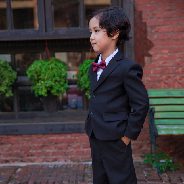 Boys Black Suit Kids 3 Piece Clothing Wedding 4 16 Year