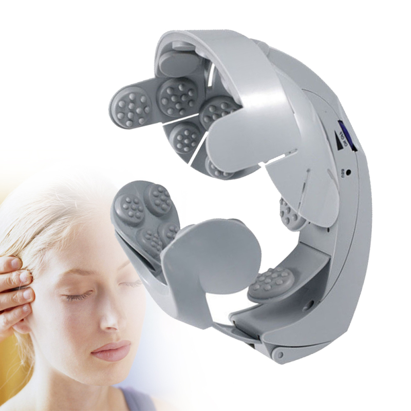 1Pcs Individual Electric Head Massager Brain Massage Relax Easy Acupuncture Points Fashion Gray Health Care Home Massager Z3 brain mechanisms 1