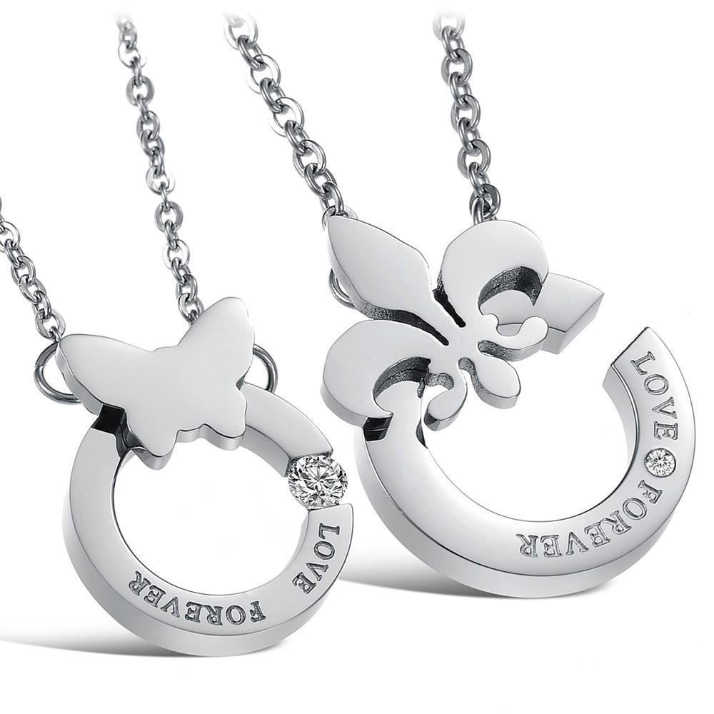korean couple necklace titanium necklaces pendants cute