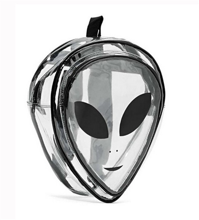 Mochila Divertida Transparente Alien,mochilas femininas alien