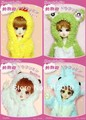 Cute Zoo Pajamas kinds of Animal Outfits for BJD YOSD 1/6 BB Doll Clothes