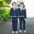 Элегантный флот страница мальчика костюм мальчик Свадебный костюм Мальчиков Наряд На Заказ костюм смокинг (куртка + брюки + жилет + галстук)
