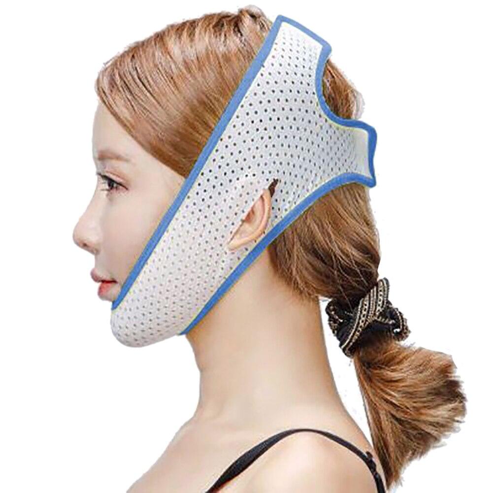 1 шт. инструменты для подтяжки лица, забота о здоровье, подбородок, щек, красота, пояс для похудения, v-образная линия, маска для подтяжки лица, бандажный массажер, один размер - Цвет: Синий