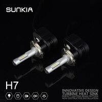 2X Car LED Headlight Conversion Kit Souel GSP T5 H7 High Bright 4200LM 30W Car Styling