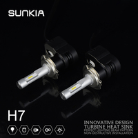 2X Car LED Headlight Conversion Kit Souel GSP T5 H7 High Bright 4200LM 30W Car Styling