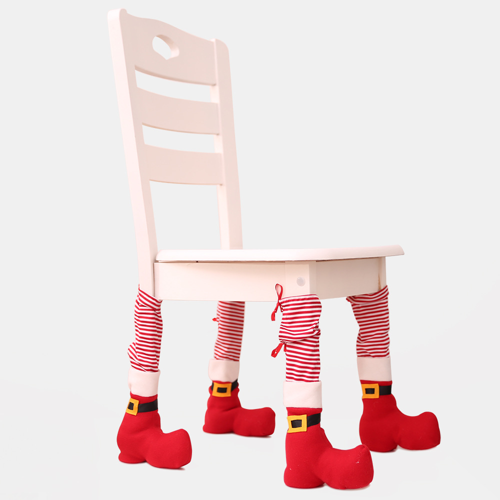 Enthusiastic 1 Pcs Red Christmas Chair Feet Cover Christmas Decora Christmas Table Feet Set Home Dressing Table Chair Cover Creative Dress Up Drip-Dry Home & Garden Festive & Party Supplies