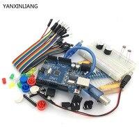 1set New Starter Kit UNO R3 Mini Breadboard LED Jumper Wire Button Compatile