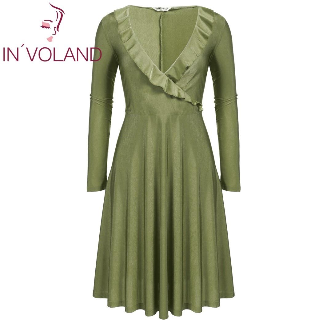IN'VOLAND Vintage Dress Dress Plus Չափ կանանց համար - Կանացի հագուստ - Լուսանկար 3