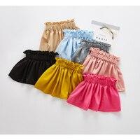 Candy Color Fashion Girl Pleated Skirt Kids Casual Summer Toddler Girls Skirts Tutu Pettiskirt Children Clothing